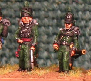 15mm, Napoleonic British 95th Riffles (Full Dress) AB 12 Figures